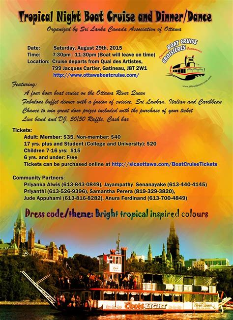 dinner on a boat ottawa slcao tropical nights boat cruise 2015 sri lanka canada