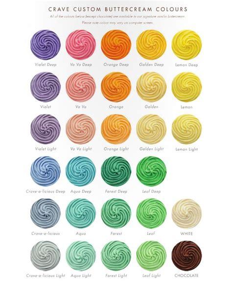 buttercream color 38 best buttercream color chart images on