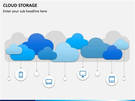 Cloud Storage Powerpoint Template Sketchbubble Cloud Template For Powerpoint