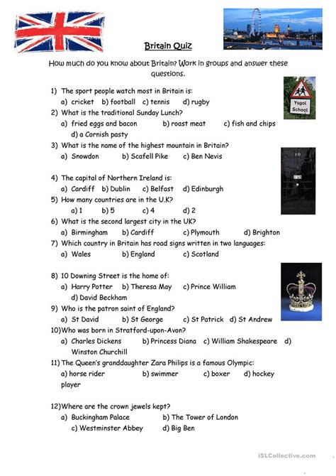 printable communication quiz british culture quiz worksheet free esl printable