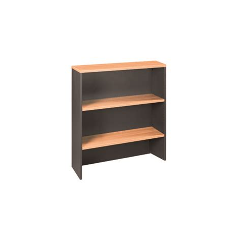 Reception Desk Hutch Swan Overhead Hutch Reception Desk Top 1080mm H X 900mm W Beech Charcoal