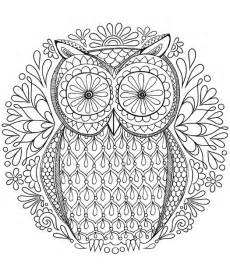 owl coloring pages for adults free coloring pages of owl mandala