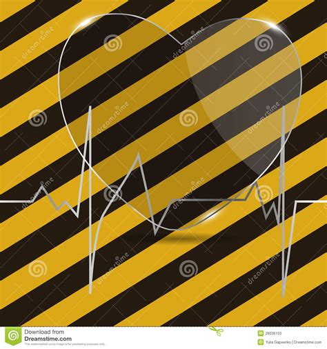 cardiogram with vector illustration stock photos