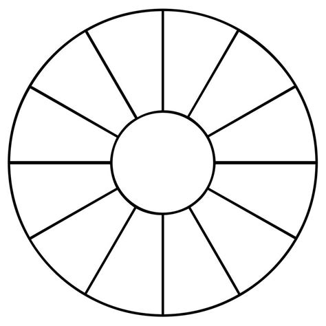 wheel template pin blank color wheel worksheets curriculum on