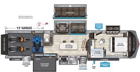 Fifth Wheel Rv Floor Plans 399th Grand Design