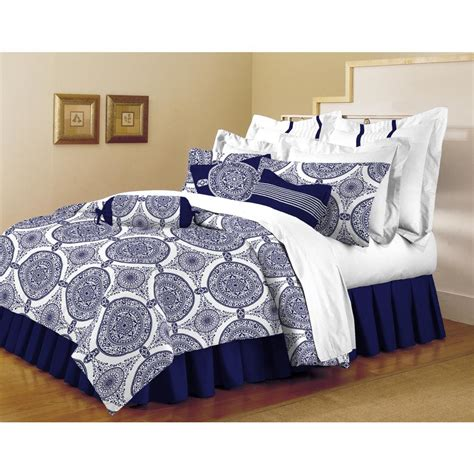 Home Trends Bedding Sets Home Dynamix Classic Trends Indigo 5 Comforter Set F Q Marc 661 The Home Depot