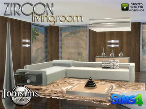 sims 4 wohnzimmer jomsims zircon modern living room