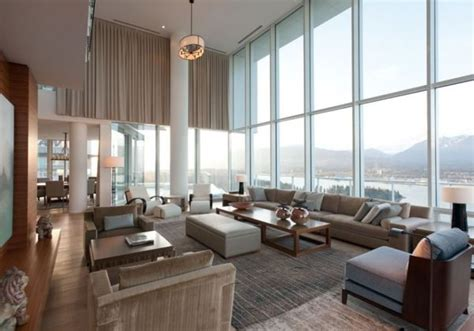 Fairmont Floor Plan by Contemporary Penthouse Interior Design In Vancouver By