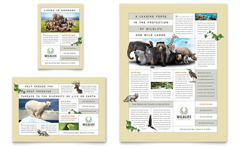 microsoft publisher flyer templates nature wildlife conservation flyer ad template word