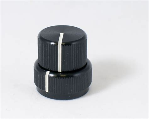concentric stacked black aluminum knob best bass gear