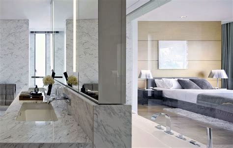 marble bedroom modern suite bedroom with marble wall interior design ideas