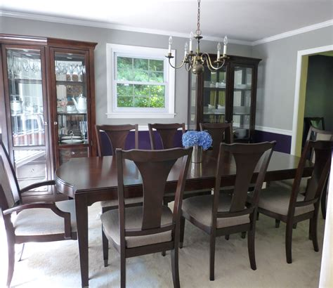 i my new royal purple and gray dining room behr