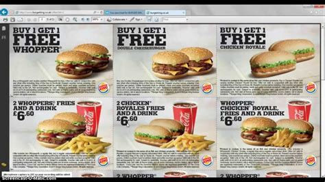 burger king printable vouchers uk free burger king vouchers uk 2014 youtube