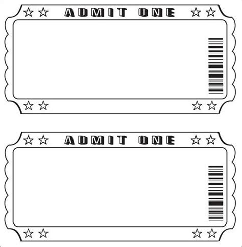 Free Raffle Ticket Template Template Business Free Ticket Template