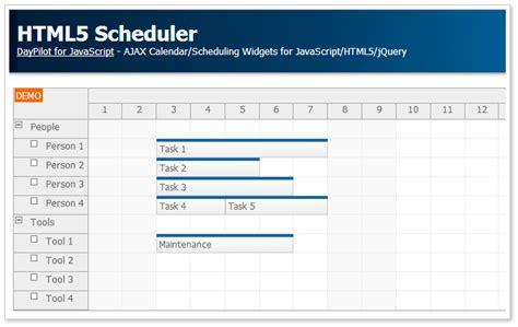drag and drop javascript scheduler daypilot for html5 scheduler daypilot code
