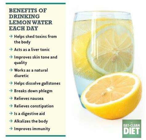 Lemon Water Detox by Benefits Of Lemon Water Healthy