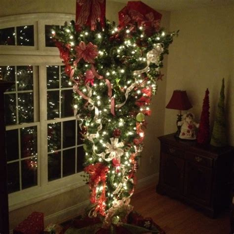 upside down christmas trees christmas decor pinterest 28 best up side christmas tree the intolerant chef our