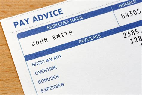 what information must be on a payslip e bas accounts