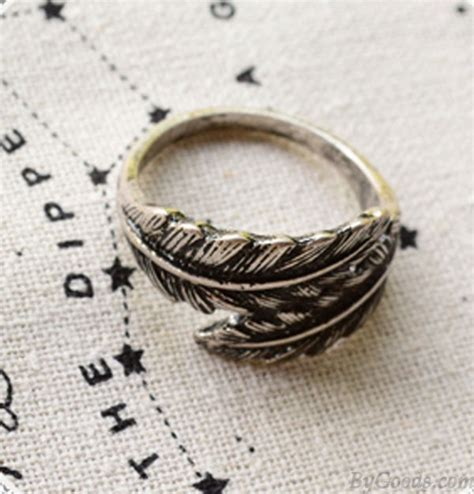 Unique Handmade Rings - unique vintage feather handmade ring fashion rings