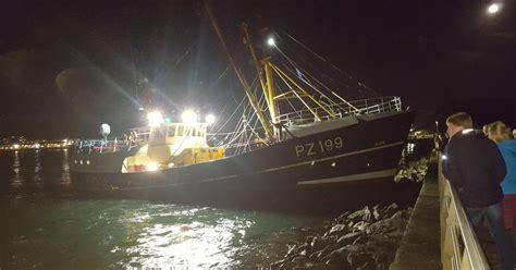 fishing boat load crossword fishing boat crashes into rocks near mount batten pier as
