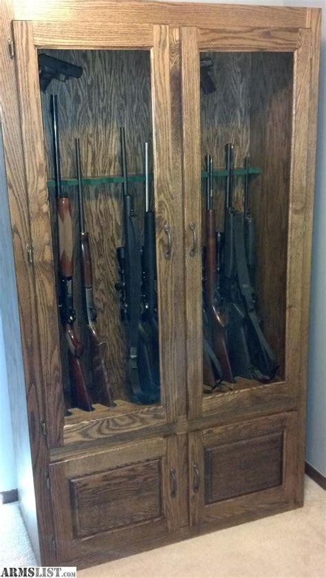 wooden gun cabinets for sale armslist for sale 12 gun oak gun cabinet