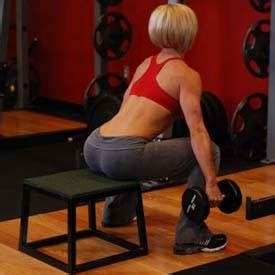 dumbbell bench squat dumbbell squat to a bench exercise guide and video