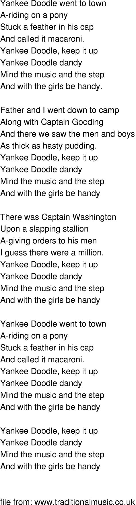 doodlebug lyrics prepositional phrase song yankee doodle images