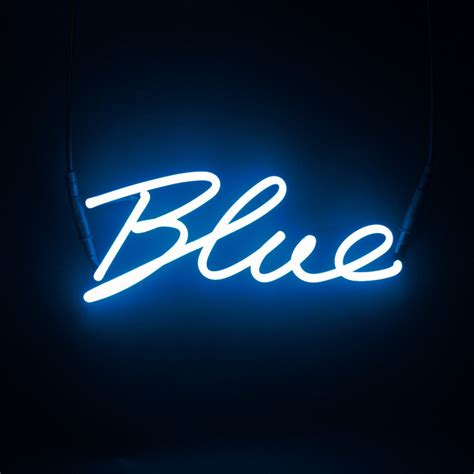 Blue Mood Meaning seletti neon colour word lamp wall art