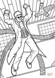 angry doctor octopus coloring page free printable
