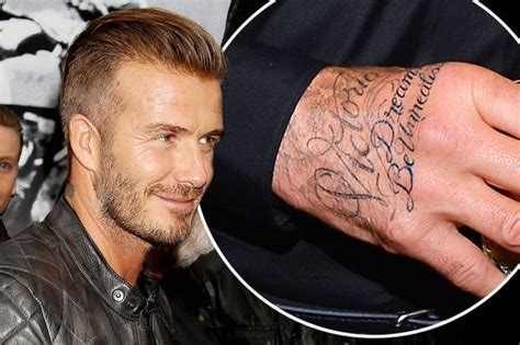 david beckhams tattoos david beckham s quotes lyrics from z