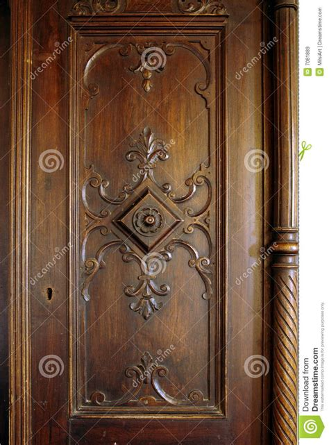 antique wooden carved door royalty  stock images