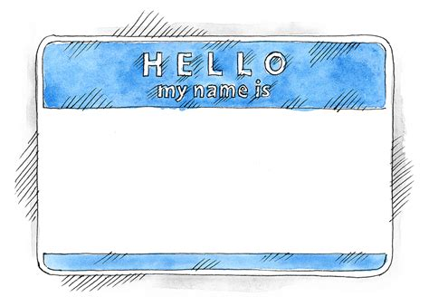 great name tag design free eps psd watercolor blue name tag hello my name is on