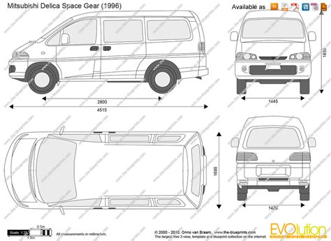 mitsubishi delica space gear ford freestar blueprint drawings