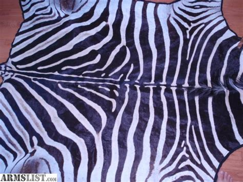 zebra rug real armslist for sale authentic zebra rug