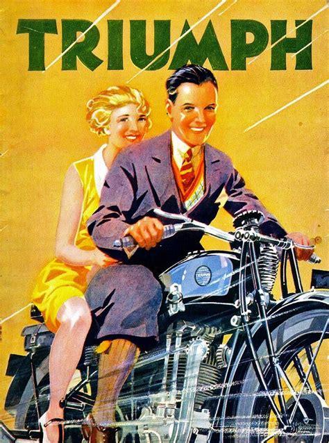 Motorrad Triumph Alt by Triumph Story 1930 Ad Brochures Motorrad
