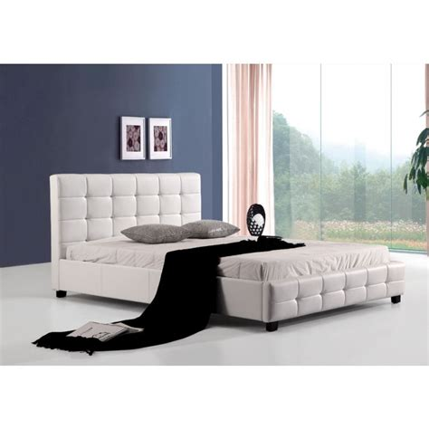 Palermo Bed Frame Palermo Deluxe Pu Leather Bed Frame White Buy Bed Frame