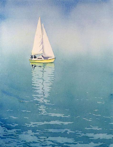 sail boat painting watercolor painting prints - Sailboat Prints