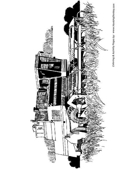 free coloring pages of farm with crops