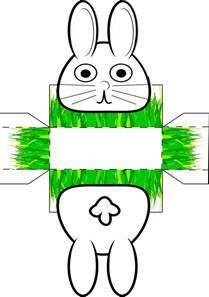 Kostenlose Vorlage Hase Osternest Mit Osterhase Zum Basteln Und Ausmalen Basteln Osternest Ausmalen Und
