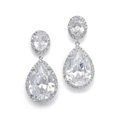 braut ohrringe tropfen couture pear shaped cubic zirconia earrings anywhere