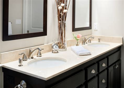 Bathroom Vanity Countertop Ideas by Crema Marfil Marble Bathroom Vanity Countertop Ideas