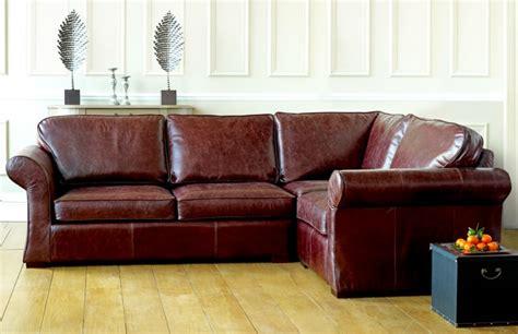 vintage leather corner sofa bed reversadermcream