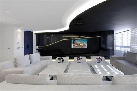 futuristic apartment by a cero architects