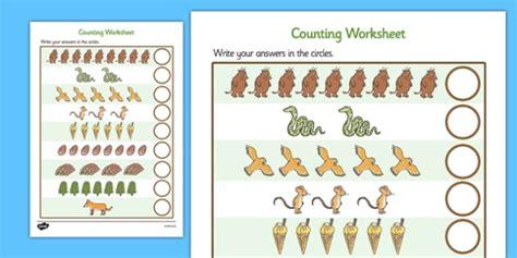 the gruffalo counting sheet the gruffalo one to one 1 1