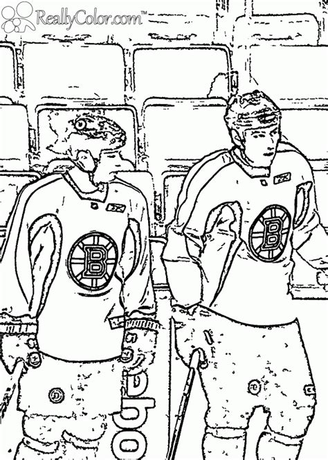 hockey coloring pages pdf savard and lucic boston bruins reallycolor 246925 chicago