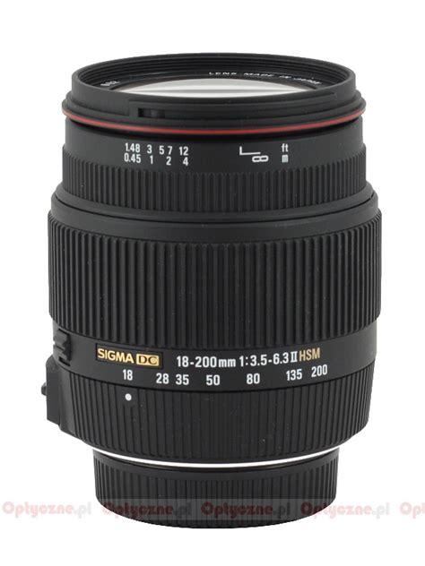 Sigma Lensa 18 200mm F 3 5 6 3 Dc Macro Os Hsm C For Nikon sigma 18 200 mm f 3 5 6 3 ii dc os hsm review introduction lenstip
