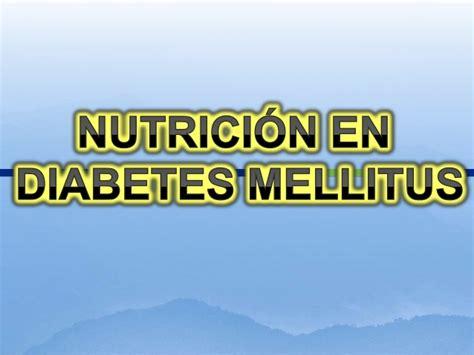 nutricion en diabetes mellitus