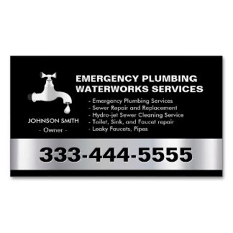 plumber business card templates free plumbing business cards templates zazzle