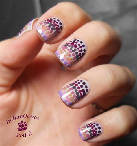 The One Wear Nail Nail Dotting Tool indian dotted gradient with purple and