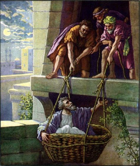 The Wall The Story Of Pauls Escape In A Basket paul escapes damascus